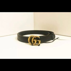 Gucci Belt Double G Interlock Brass 75cm NWT